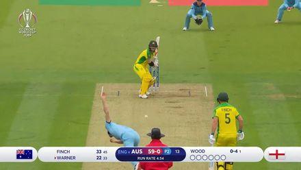 CWC19: ENG v AUS - David Warner batting highlights