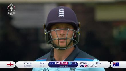 CWC19: ENG v AUS - Buttler caught on the boundary