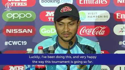 CWC19 – Ban v Afg: Shakib Al Hasan press conference