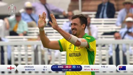 CWC19: ENG v AUS - Starc removes the England captain