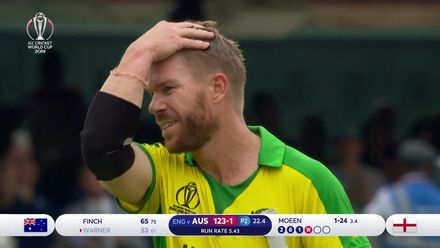 CWC19: ENG v AUS - Moeen Ali gets the breakthrough