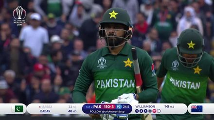 CWC19: NZ v PAK - Mohammad Hafeez holes out to Williamson
