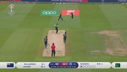 CWC19: NZ v PAK - Munro edges Shaheen to slip