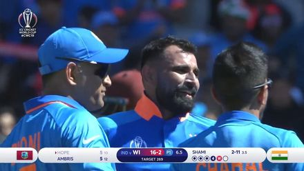 CWC19: WI v IND – Shami has Hope clean bowled for 5