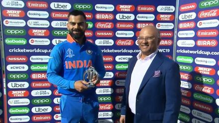 CWC19: WI v IND – Player of the Match Virat Kohli