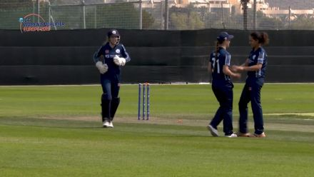 ICC Women's T20 World Cup Europe Qualifier: Ger v Sco - Priyanaz Chatterji discusses her Player of the Match-winning performance