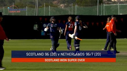 ICC Women's T20 World Cup Europe Qualifier: Ned v Sco – Scotland beat Netherlands in the Super Over