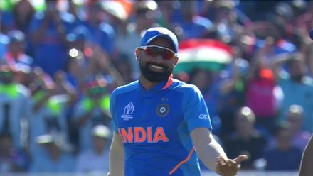 CWC19: WI v IND – Shami does a Cottrell celebration