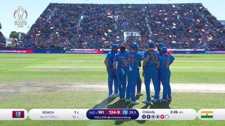 CWC19: WI v IND – Chahal ends Cottrell's cameo
