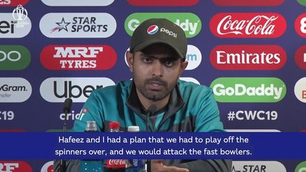 CWC 19: NZ v PAK – Babar Azam post-match conference