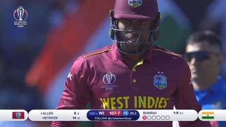 CWC19: WI v IND – West Indies wickets