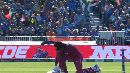 CWC19: WI v IND – Hetmyer is caught at backward point by Rahul