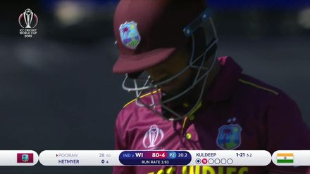 CWC19: WI v IND – Pooran falls for 28