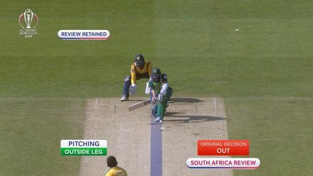 CWC19: SL v SA - Amla earns reprieve after reviewing lbw decision