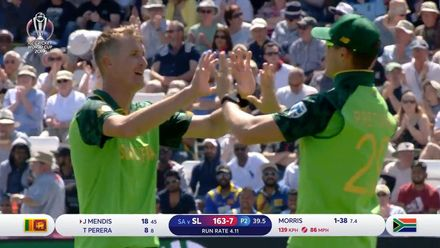 CWC19: SL v SA - Highlight's of Morris taking 3/46