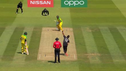 CWC19: NZ v AUS - Boult beats Finch with inswinger