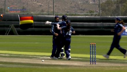 ICC Women's T20 World Cup Europe Qualifier: Sco v Ger - Abtaha Maqsood's 3/9