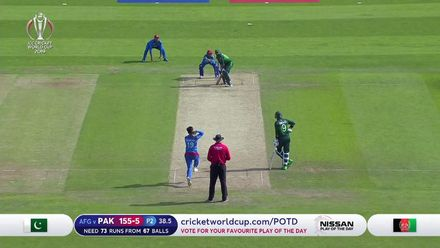 CWC19: PAK v AFG - Sarfaraz is run out as it goes from bad to worse for Pakistan
