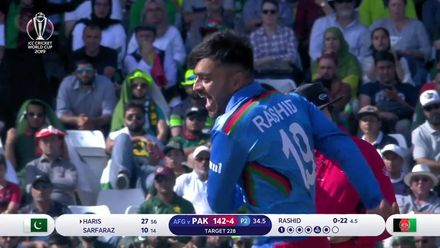 CWC19: PAK v AFG - Rashid gets Haris and Afghanistan are on top