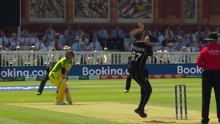 CWC19: NZ v AUS - Ferguson removes Warner with a short one