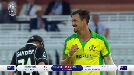 CWC 19: NZ v AUS – Mitchell Starc bowling highlights