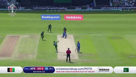 CWC19: PAK v AFG -  Shadab gets Asghar Afghan after a counter-attacking 42