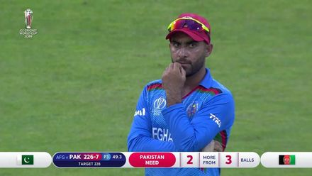 CWC19: PAK v AFG - Final over