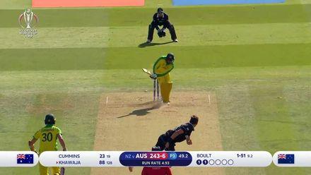 CWC19: NZ v AUS - Boult bowls Khawaja for 88