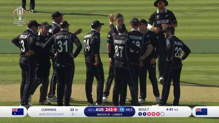 CWC19: NZ v AUS - Boult completes hat-trick with LBW