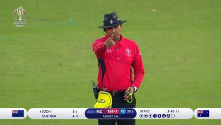 CWC19: NZ v AUS - Sodhi out LBW