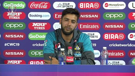 CWC19: PAK v AFG - Imad Wasim press conference