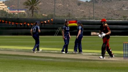 ICC Women's T20 World Cup Europe Qualifier: Sco v Ger - Katie McGill's three-wicket haul