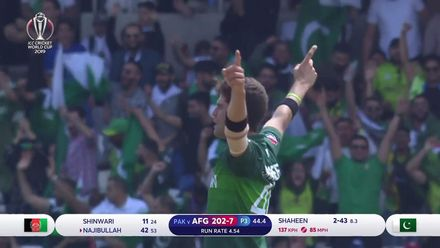 CWC19: PAK v AFG - Najibullah bowled off his foot