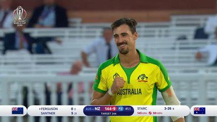 CWC19: NZ v AUS - Starc bowls Ferguson