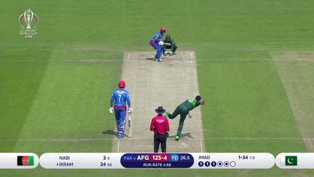 CWC19: PAK v AFG - How the Afghanistan wickets fell
