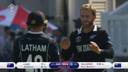 CWC19: NZ v AUS - Williamson breaks the partnership