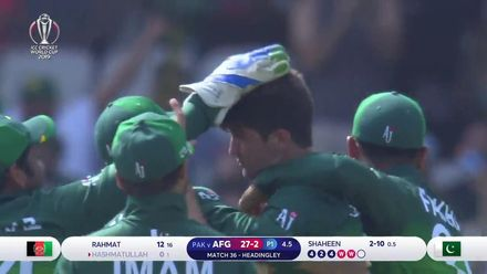 CWC19: PAK v AFG - Two wickets in two balls for Shaheen