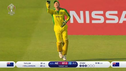 CWC19: NZ v AUS - Starc takes the big wicket