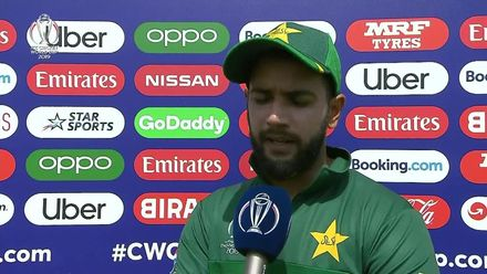 CWC19: PAK v AFG - Imad Wasim interview post first innings