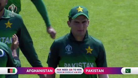 CWC19: PAK v AFG - Afghanistan innings highlights