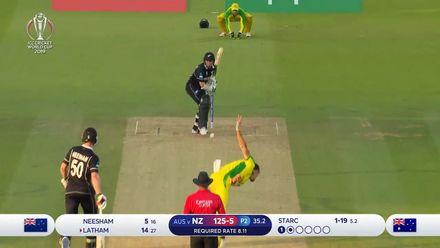 CWC19: NZ v AUS - Stunning catch by Steve Smith!