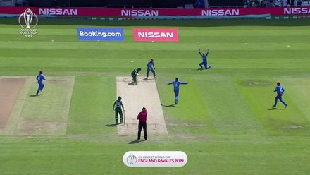 CWC19: PAK v AFG - Mujeeb removes Fakhar lbw for 0