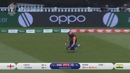 CWC19: ENG v IND - Joe Root is caught at fine-leg
