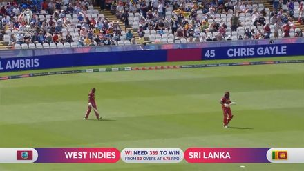 CWC19: SL v WI - West Indies innings highlights