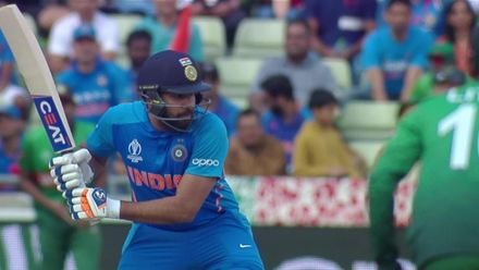 CWC19: BAN v IND - Rohit hits a six in the first over