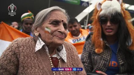 CWC19: BAN v IND - Fans of all ages are at the game