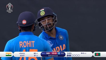 CWC19: BAN v IND - Rahul passes fifty