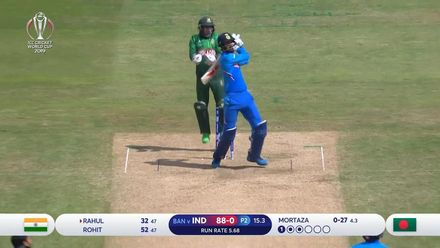 CWC19: BAN v IND - Rahul pulls Mortaza for six
