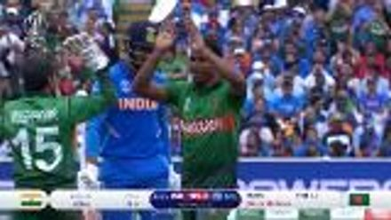 CWC19: BAN v IND - Rubel Hossain gets Rahul caught behind