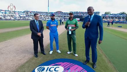 CWC19: BAN v IND - Toss